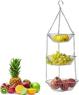 None/Brand Panier Suspendu à 3 Couches à la Mode boîte de Rangement pour Fruits et légumes