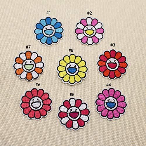 A/N Patches Zum Aufbügeln, Patch Sticke Aufnäher, Für Kleidung, Jacken, T-Shirt, 8 Stück wie viele Sonnenblumenstile