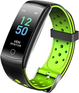 TYGJ Q8T Pulsera Inteligente Monitor de Ritmo cardíaco Impermeable IP68 Pulsera Inteligente con Pulsómetro Rastreador de Ejercicios Bluetooth Pulsera Actividad Método de detección de Temperatura