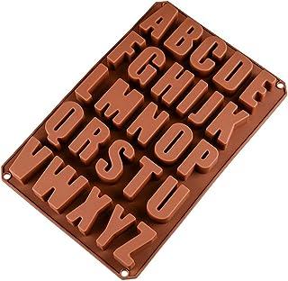26 Letras Inglesas Chocolate Silicona Moldes, Moldes de Jabón, Molde de Silicona para Hornear para Chocolate DIY, Cubitos de Hielo, Galletas, Pasteles