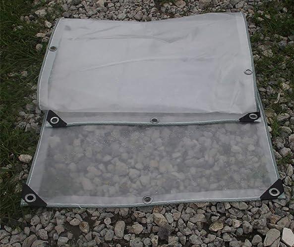 JEAQW Home Tente extérieure Double bache Transparente épaississement Prougeection Solaire Chambre bache Balcon fenêtre imperméable Coupe-Vent Tissu Transparent (Couleur   A, Taille   2x8m)