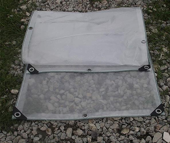 JEAQW Home Tente extérieure Double bache Transparente épaississement Prougeection Solaire Chambre bache Balcon fenêtre imperméable Coupe-Vent Tissu Transparent (Couleur   A, Taille   2x6m)