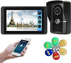 "Waterproof Video Doorbell Intercom & 7"" LCD Display, IR Night Vision Camera Support Unlock, Monitoring, Dual-Way Intercom ..."