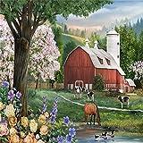 Pintura por número/kit de pintura DIY para adultos y niños, lienzo preimpreso para principiantes (sin marco) 40 * 50cm / Xanadu
