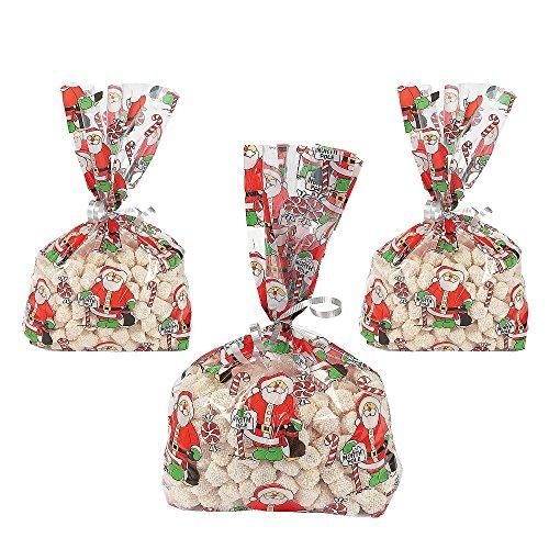 Elfen und Zwerge 12 x Beutel Tüten Weihnachten Zellophan Kekstüten Kekse Geschenk Adventskalender Zellophanbeutel Zellophantüten Naschtüten Geschenktüte Weihnachtsmann Party Cellophane
