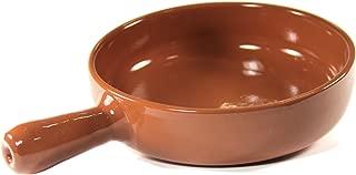 Peregrino Terra Cotta Cazuela Dish with Handle - 9 inch/2 inches deep