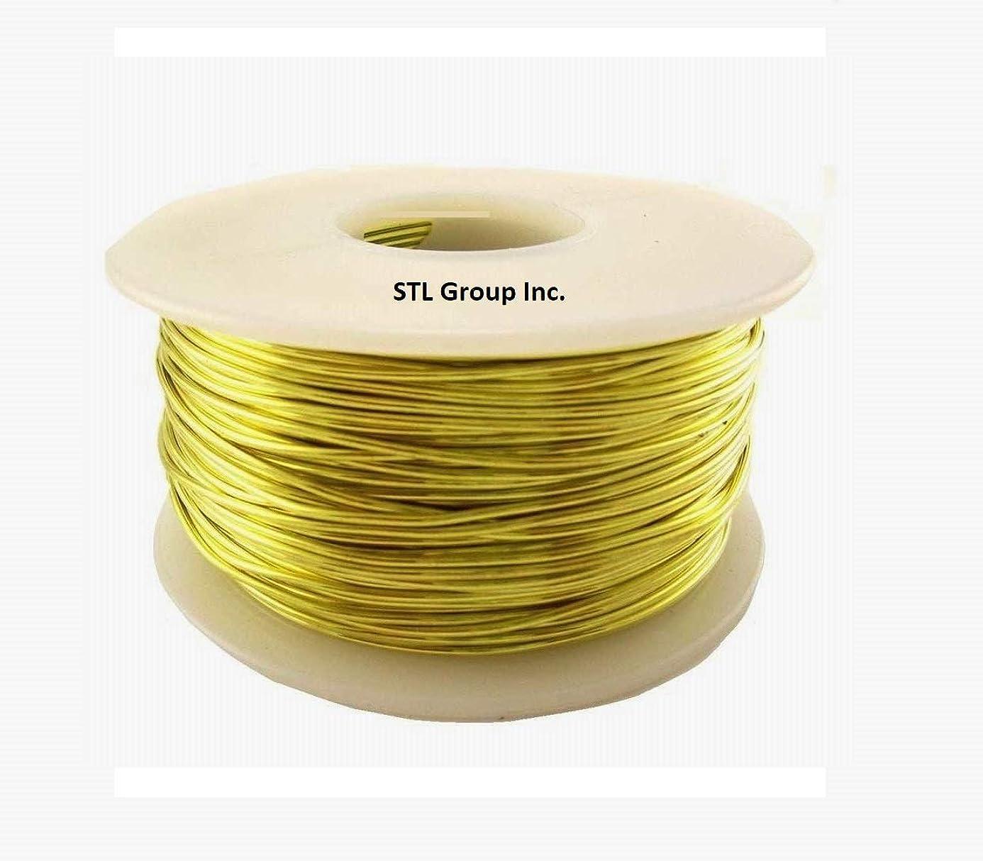 26 ga Brass Round Wire 1 lb = 1260 Ft. Spool / Soft Yellow #260 Brass rca4917819