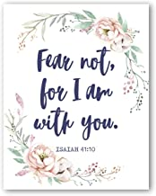 Isaiah 41:10 Wall Art - Fear Not For I Am With You - Christian Posters - 8x10 - Unframed