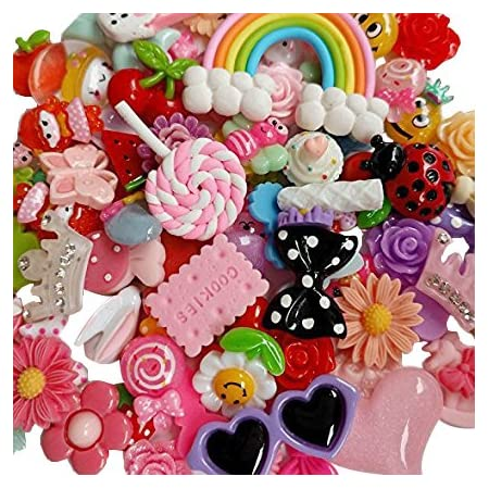 4pcs Easter Basket Resin Flatback Cabochons Embellishment Decoden Kids Craft