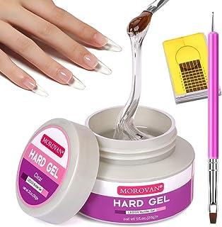 Morovan LED/UV Gels Builder Gel de extensión de uñas Gel fortalecer uñas Gel UV Gel Nail Art Manicure Set con formas de uñ...