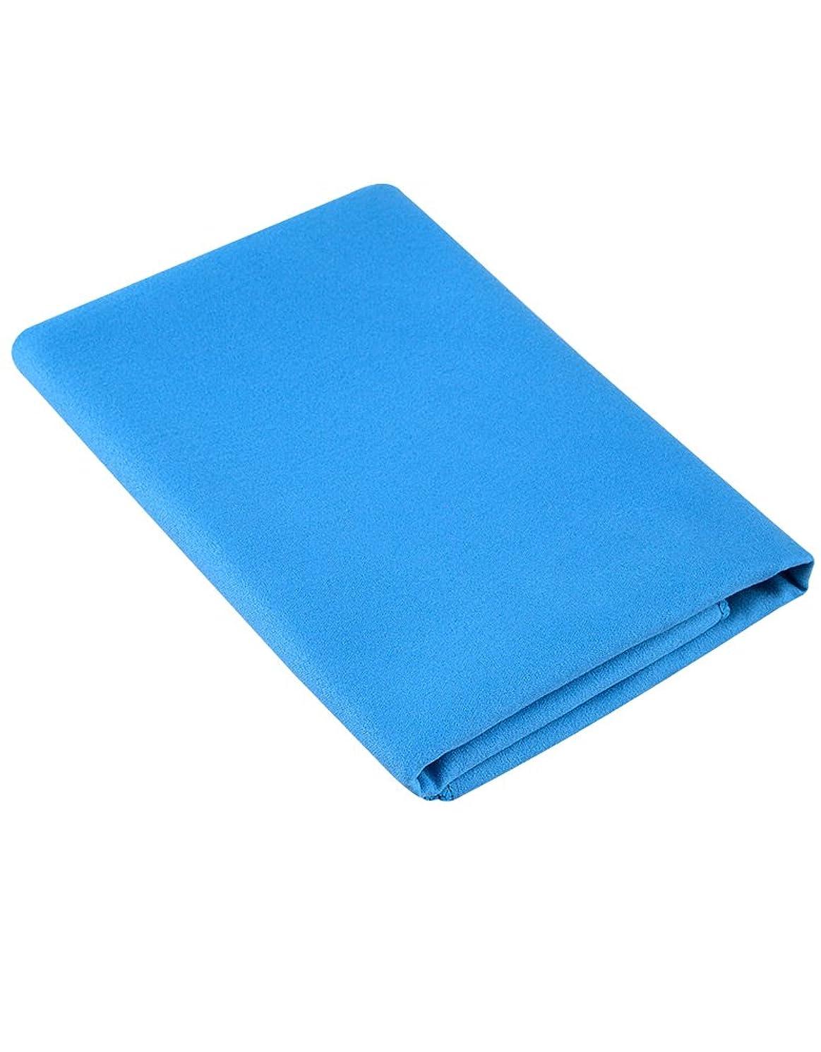 スリット天文学雇用者Mad Wave Microfibre Large Towel - Blue one size