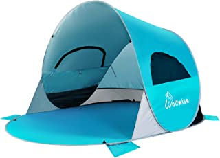 WolfWise UPF 50+ Easy Pop Up Beach Tent Sport Umbrella Instant Sun Shelter Tent Sun Shade Baby Canopy