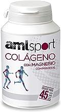 AMLsport - Colágeno con magnesio – 270 comprimidos articulaciones fuertes. Regenerador de tejidos con colageno hidrolizado tipo 1 y tipo 2. Envase para 45 días de tratamiento.