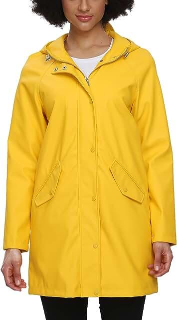 Raincoat Women, Rain Jacket Waterproof Raincoat Hooded Windbreaker Outdoor Long Active