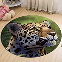 Round Rugs Flannel Warm Non-Slip Carpet Home Living Room Kitchen Stain Resistant Durable Door Mat,1,60cm