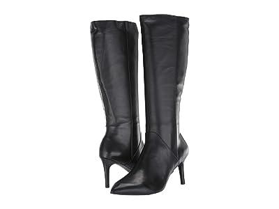 Rockport Total Motion Ariahnna Plain Tall Boot (Black Leather) Women