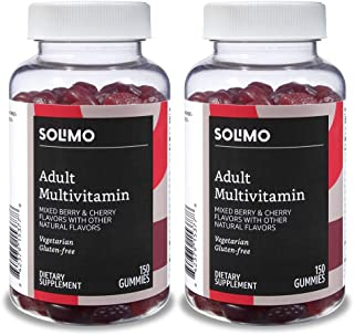 Amazon Brand - Solimo Adult Multivitamin, 300 Gummies, 75-Day Supply, 150 Count (Pack of 2)