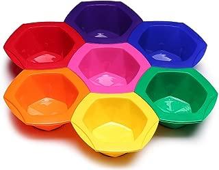 Hair Dye Mixing Bowl Kit, Professional Tint Coloring Bowls Tools Set in Rainbow Colors