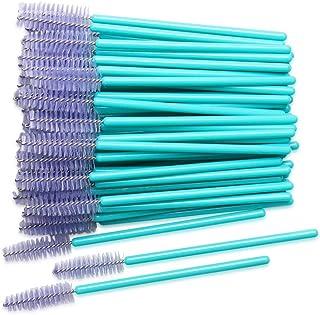 300 Pack Mascara Wands Disposable Eye Lash Brushes Applicator for Eyelash Extensions Makeup Tool Bulk, Blue/Light Purple