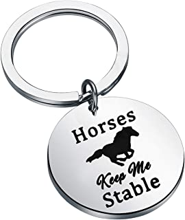 Graphics Metal Key Holder Solid Key Pendant Czech Warmblood Keyring Key ring Keychain with a horse