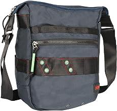 Vertical Messenger Bag, Crossbody Bag, Larswon Shoulder Bag Tablets Bag Satchel for Men Women Blue