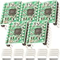 AZDelivery 5 x A4988 DMOS Stepper Motor Driver RepRap Ramps with Headers and Heatsink compatible with Arduino including E-Book!