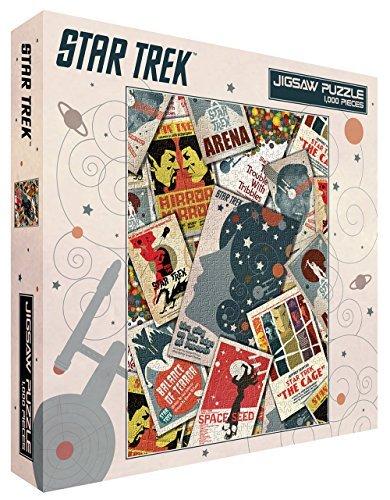 Star Trek Collage Sci-Fi TV Television Show (Juan Ortiz Retro Art) 1000 Piece 20x27 Inch Jigsaw Puzzle