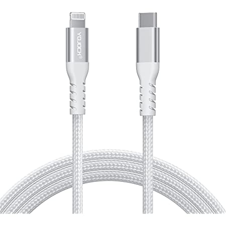 TYPE-C & ライトニング ケーブル USB-C to lightning ケーブル1.8M【Apple MFi認証取得 / PD対応 / 急速充電 & 高速データ同期 / 超高耐久】 USB-C toライトニング ケーブル タイプc ライトニング lightning ケーブル iphone 充電ケーブル cタイプ 新しい iphone 12 / iphone 12 mini /iphone pro / iphone 12 pro max / Macbook / iPad / iPhone SE /11/11 Pro / 11 Pro Max/ X/XS/iPhone XS MAX/ iPhone XR/iPhone 8 / 8 Plus シリーズに対応 シルバー