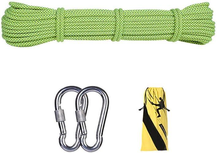 F adhere Corde d'escalade extérieure 10.5mm Diverses Longueurs Static Escalade Corde Escape Corde équipement d'escalade sur Glace Corde de Sauvetage Parachute Corde