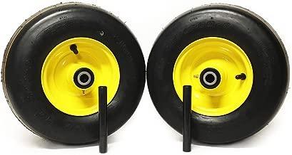MowerPartsGroup (2) Pneumatic Wheel Assemblies 13x5.00-6 fits John Deere Replaces TCA13769