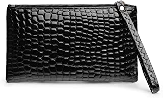 Women's Clutch Wallet, Vegan Leather Handbag Envelope Smartphone Wristlet Purse for Women