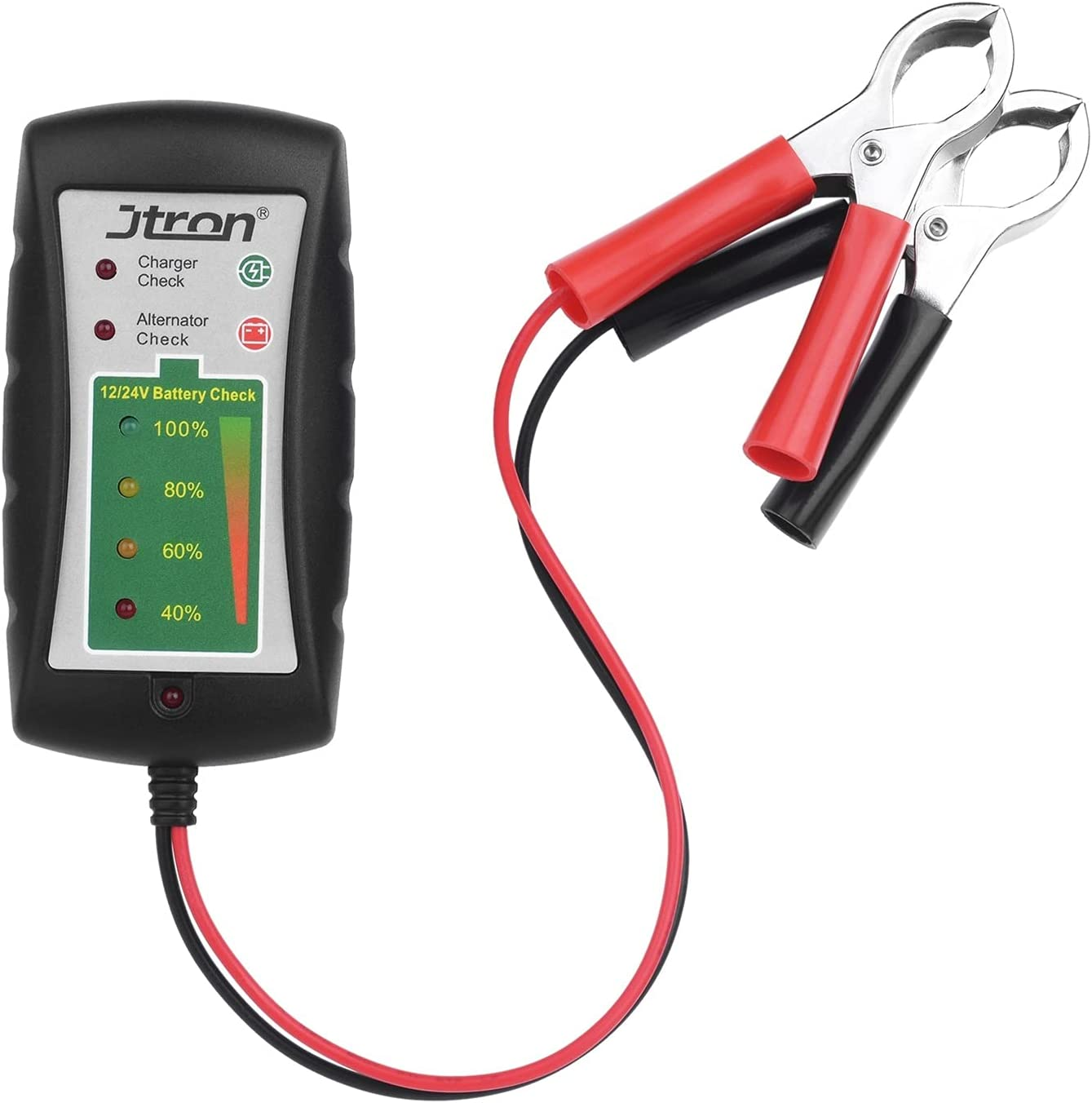 LIUXIAOKE Probador de batería 12V / 24V LED Muestra alternador Check Charger Check for Cars Motorcycles Trucks Battery Check