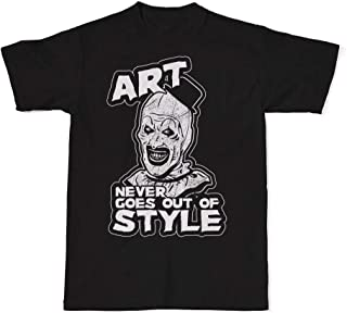 Art Never Goes Out Of Style T-Shirt, Art The Clown, Terrifier Movie, All Hallows Eve, Horror Movie Shirts, Horror Tees