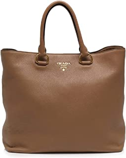 Women's Brown Vitello Phenix Shopping Tote Top Handle Bag Shoulder Bag 1BG865