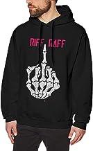 Sudadera Casual de Manga Larga con Capucha Riff Raff Sweatshirts for Men Hoodies Black