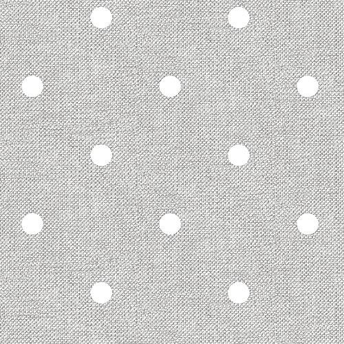 Mantel de hule, rectangular 140 x 200cm Lunares Gris Claro