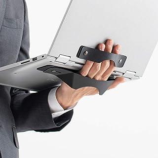 【NHKで紹介!】 サンワダイレクト ノートパソコン タブレット 手持ちホルダー 落下防止 再剥離テープ貼り付け 持ち運び 200-CA040