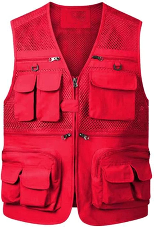 Superlatite llddrz Fishing Vest Mens Daily bargain sale Gilet Breathable Waistcoat Outdoor Mesh