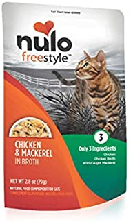 Nulo Freestyle Wet Cat Food, 2.8 oz Pouches, 6 or 24 Count - Natural, Grain-Free Cat Food with High Protein, Amino Acids f...