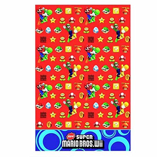 Gemma International Tovaglia Super Mario Bros per Festa Compleanno Party 138x183 cm in plastica