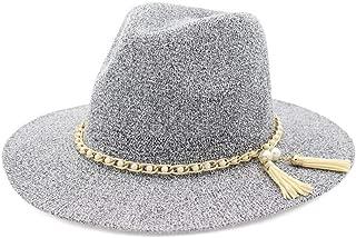 XinLin Du Dalat Sun Hat Spring Summer Sun Hat Fedora Hat Ladies Hat Woven Tassel Fashion Straw Hat Outdoor Beach Hat