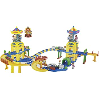 Toyshine Funny Carousel New Puzzle Train Track Set with Light and Sound