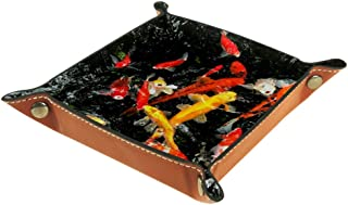 Boîte de rangement pliable en cuir PU pour bureau de couleur - Table de jeu carrée - Porte-monnaie, porte-monnaie, porte-m...