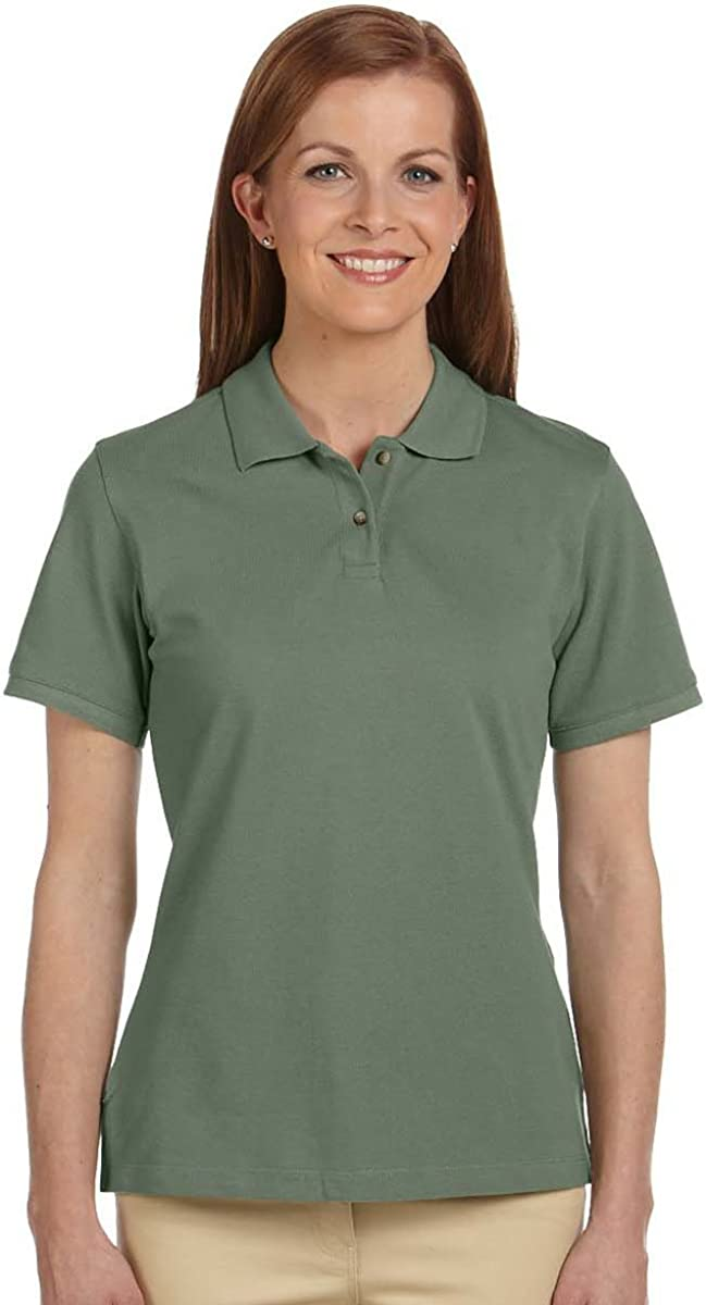 Harriton Women's Short-Sleeve Pique Polo Shirt, Dill, XX-Large