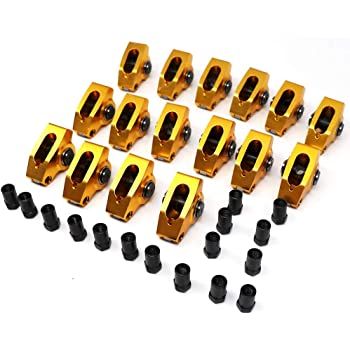Set of 8 COMP Cams 19005-8 Ultra-Gold Aluminum Roller Rocker Arm with 1.6 Ratio and 7//16 Stud Diameter for Small Block Chevrolet,