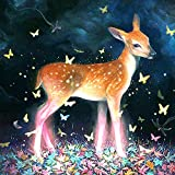bimkole diy 5d diamond painting accessori cervo fiore di prugna, animali pittura artificiale kit per pittura diamante diamante pittura kit per pittura diamante decorativo (30x40 cm)