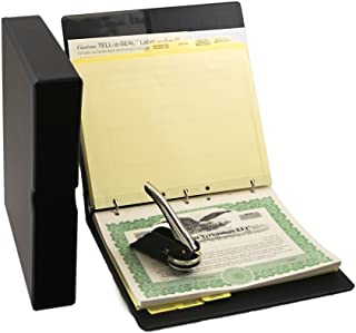 Blumberg Black Beauty Limited Liability Company (LLC) Kit with Printed LLC Operating Agreements, Records Binder, LLC Seal, Printed Membership Certificates with Full-Page Stubs, and More (Black)