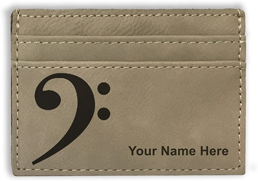 Money Clip Wallet, Bass Clef, Personalized Engraving Included