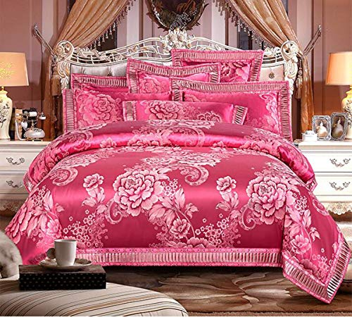 Check Out This HUROohj Satin Jacquard,The New Bedding Four Sets,European Style£¬Bedding Kits£¨ 4...