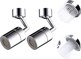 Anti-splash Filter Faucet Set of 2,Universal 720° Rotatable Faucet Sprayer Head, Oxygen-Enriched Foam, 4-Layer Net Filter,...